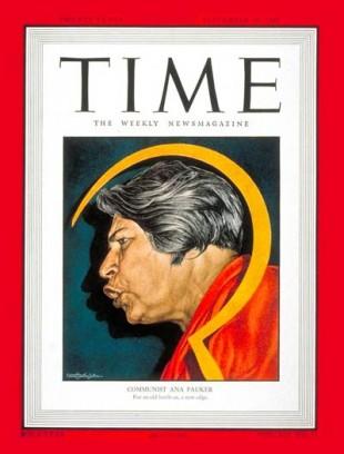 Ana pauker pe coperta prestigioasei reviste americane Time din septembrie 1948