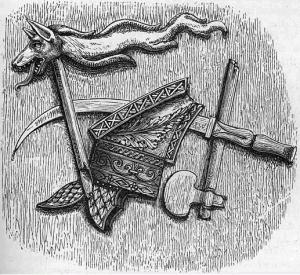Arme, armură şi simbol de luptă dacice
