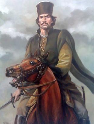 Tudor Vladimirescu, pictură realizată de Valentin Tănase