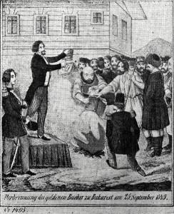 Arderea Regulamentului Organic şi a Arhondologiei în timpul Revoluţiei de la 1848 din Ţara Românească