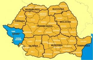 Banatul pe harta Romaniei