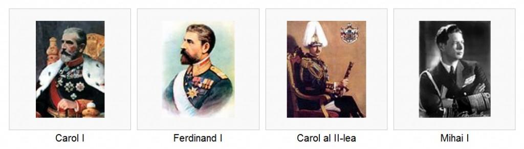 Cei patru regi ai României în ordine cronologică