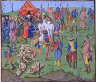 Executarea prizonierilor cruciați ca răzbunare pentru uciderea prizonierilor turci de la Rahova