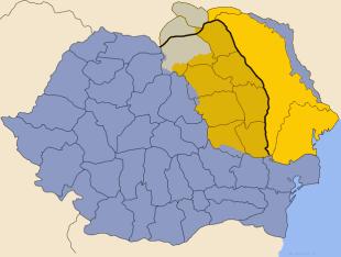 Regiunea Principatul Moldova, inclusiv Basarabia.