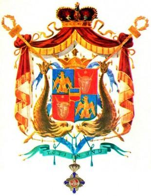 Stema Principatele Unite ale Moldovei și Țării Românești