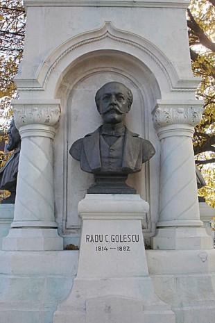 Bustul lui Radu Golescu ca element din Monumentul lui Dinicu Golescu din București