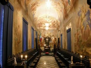 Templul unei loji masonice din Italia
