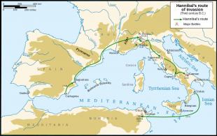 Drumul lui Hannibal în invazia Italiei