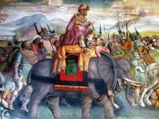 Fapta vitejească a lui Hannibal trecând Alpii cu elefanţi de război a curs drept o legendă europeană