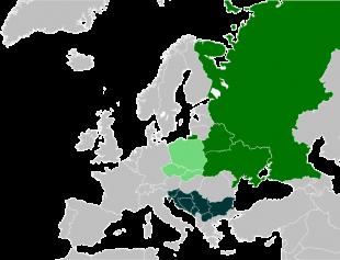 Țări cu o majoritate etnică slavă și cel puțin o limbă slavă națională