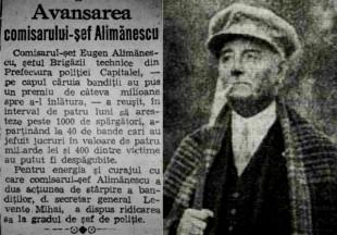 Avansarea Comisarului-Sef Calimanescu