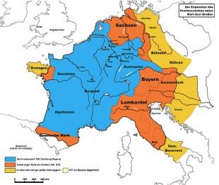 Harta Imperiului din timpul lui Carol cel Mare