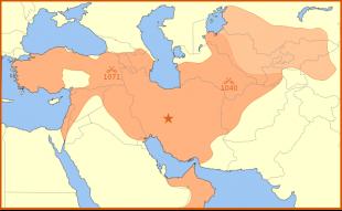 Imperiul Selgiuc la apogeu, în 610