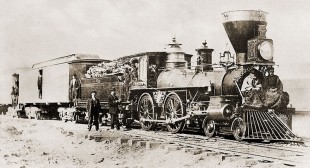 Locomotiva cu aburi in 1869
