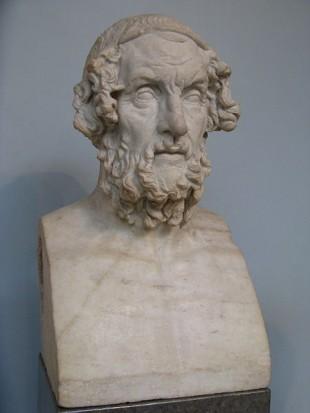 Bustul lui Homer la Muzeul Britanic