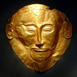 Mască mortuară atribuită lui Agamemnon.
